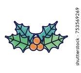 merry christmas decoration...   Shutterstock .eps vector #753569269