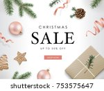christmas sale poster template...