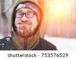 closeup portrait of happy young ...   Shutterstock . vector #753576529
