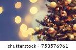 christmas background of de... | Shutterstock . vector #753576961