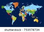 color world map vector | Shutterstock .eps vector #753578734