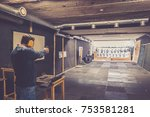 man with weapon try positions... | Shutterstock . vector #753581281