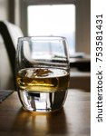 single glass of whiskey or... | Shutterstock . vector #753581431