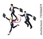 running businessmen isolated on ...   Shutterstock .eps vector #753586879