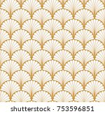 vector floral art nouveau... | Shutterstock .eps vector #753596851