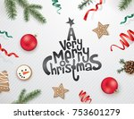 christmas greeting design with... | Shutterstock .eps vector #753601279