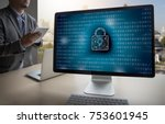 privacy access login... | Shutterstock . vector #753601945