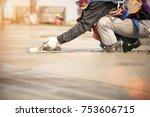 team work of construction...   Shutterstock . vector #753606715