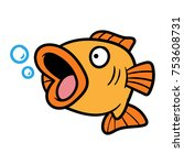 cartoon fish vector illustration | Shutterstock .eps vector #753608731