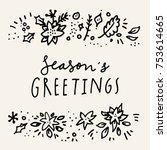 season's greetings. merry... | Shutterstock .eps vector #753614665