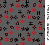 hashtag icon seamless pattern.... | Shutterstock .eps vector #753614671