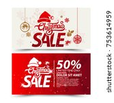 christmas sale design template | Shutterstock .eps vector #753614959