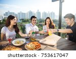 college students having party | Shutterstock . vector #753617047