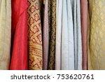 traditional thai silk cloth | Shutterstock . vector #753620761