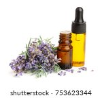 bottle with aroma oil and... | Shutterstock . vector #753623344