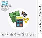 money saving planning info...   Shutterstock .eps vector #753626737