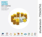 money saving planning info...   Shutterstock .eps vector #753626761