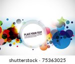 abstract colorful banner design.... | Shutterstock .eps vector #75363025