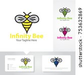 infinity bee logo | Shutterstock .eps vector #753632869