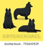 dog groenendael cartoon vector... | Shutterstock .eps vector #753633529
