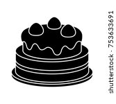 cake isolated vector icon | Shutterstock .eps vector #753633691