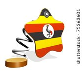 Uganda Flag Spring Banner - stock photo