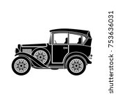 old car icon | Shutterstock .eps vector #753636031