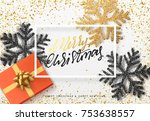 christmas background with gifts ... | Shutterstock .eps vector #753638557