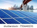 photovoltaic and modern city... | Shutterstock . vector #753640231