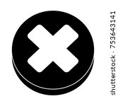 delete flat icon | Shutterstock .eps vector #753643141