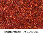 texture of dried tomato powder... | Shutterstock . vector #753643951