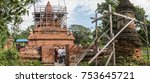 the ancient ruinous stupa at... | Shutterstock . vector #753645721