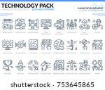game development icons set.... | Shutterstock .eps vector #753645865