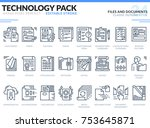 files and documents icons set.... | Shutterstock .eps vector #753645871