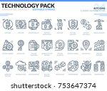 bitcoins icons set. editable...   Shutterstock .eps vector #753647374