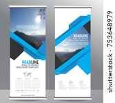 roll up business brochure flyer ...   Shutterstock .eps vector #753648979