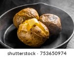 jacket potato baked potato | Shutterstock . vector #753650974