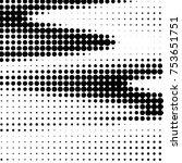 abstract grunge grid polka dot... | Shutterstock .eps vector #753651751