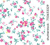 floral pattern in vector | Shutterstock .eps vector #753653329