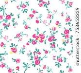 floral pattern in vector | Shutterstock .eps vector #753653329