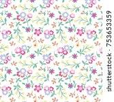 floral pattern in vector | Shutterstock .eps vector #753653359