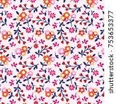 floral pattern in vector | Shutterstock .eps vector #753653377