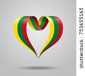 lithuanian flag heart shaped...   Shutterstock .eps vector #753655165