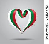 bulgarian flag heart shaped... | Shutterstock .eps vector #753655261