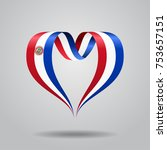 paraguayan flag heart shaped... | Shutterstock .eps vector #753657151