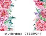 Greeting Card Roses  Watercolor