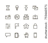 website icon set. collection of ... | Shutterstock .eps vector #753660571
