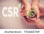 adult and child hands holding... | Shutterstock . vector #753660769