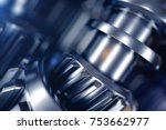 3d illustration of metal gear... | Shutterstock . vector #753662977