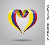 colombian flag heart shaped... | Shutterstock .eps vector #753663901